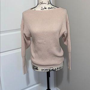 NWOT Summer & Rose boat neck sweater